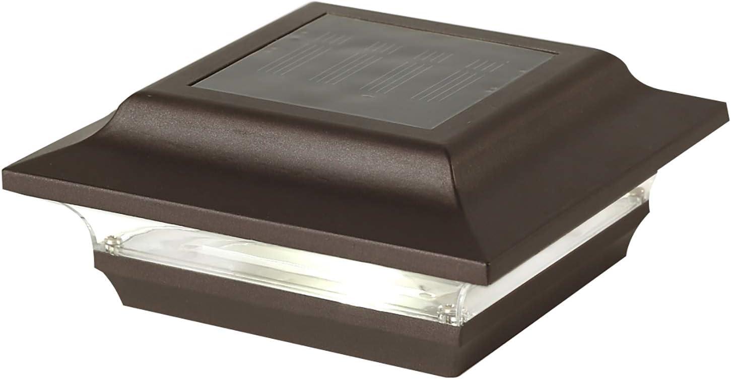 Classy Caps SL211R Aluminum Imperial Solar Post Cap, 4 x 4-Inch, Bronze