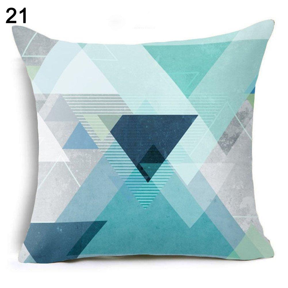 Amesii - Federa, motivi: alfabeto, geometrico, floreale, decorazione da casa e divano - 25 combinazioni nordiche 1 Colorflash