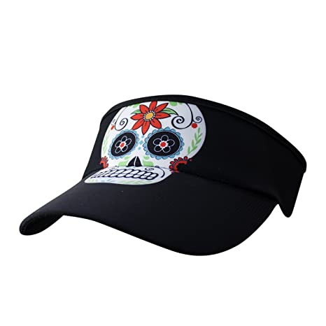 b0a656673bf68 Amazon.com  Headsweats Supervisor Sun Visor (Black Skulls)  Sports    Outdoors