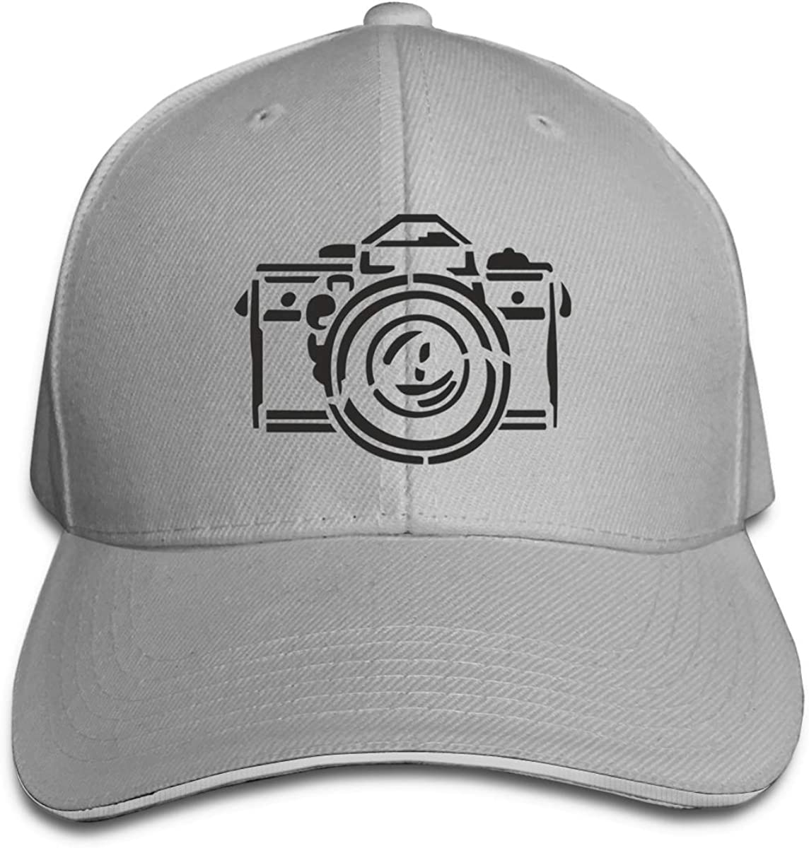 Photography Camera Classic Adjustable Cotton Baseball Caps Trucker Driver Hat Outdoor Cap Gray