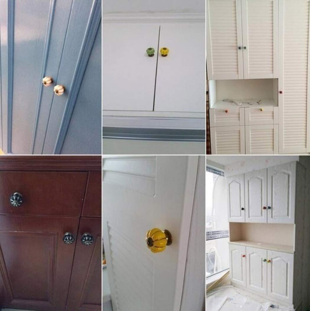 in ceramica cassetti e armadi 10 pomelli per porta per porte giallo