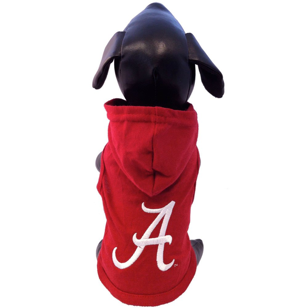 NCAA Alabama Crimson Tide Collegiate Cotton Lycra Hooded Dog Shirt (Team Color, X-Small)