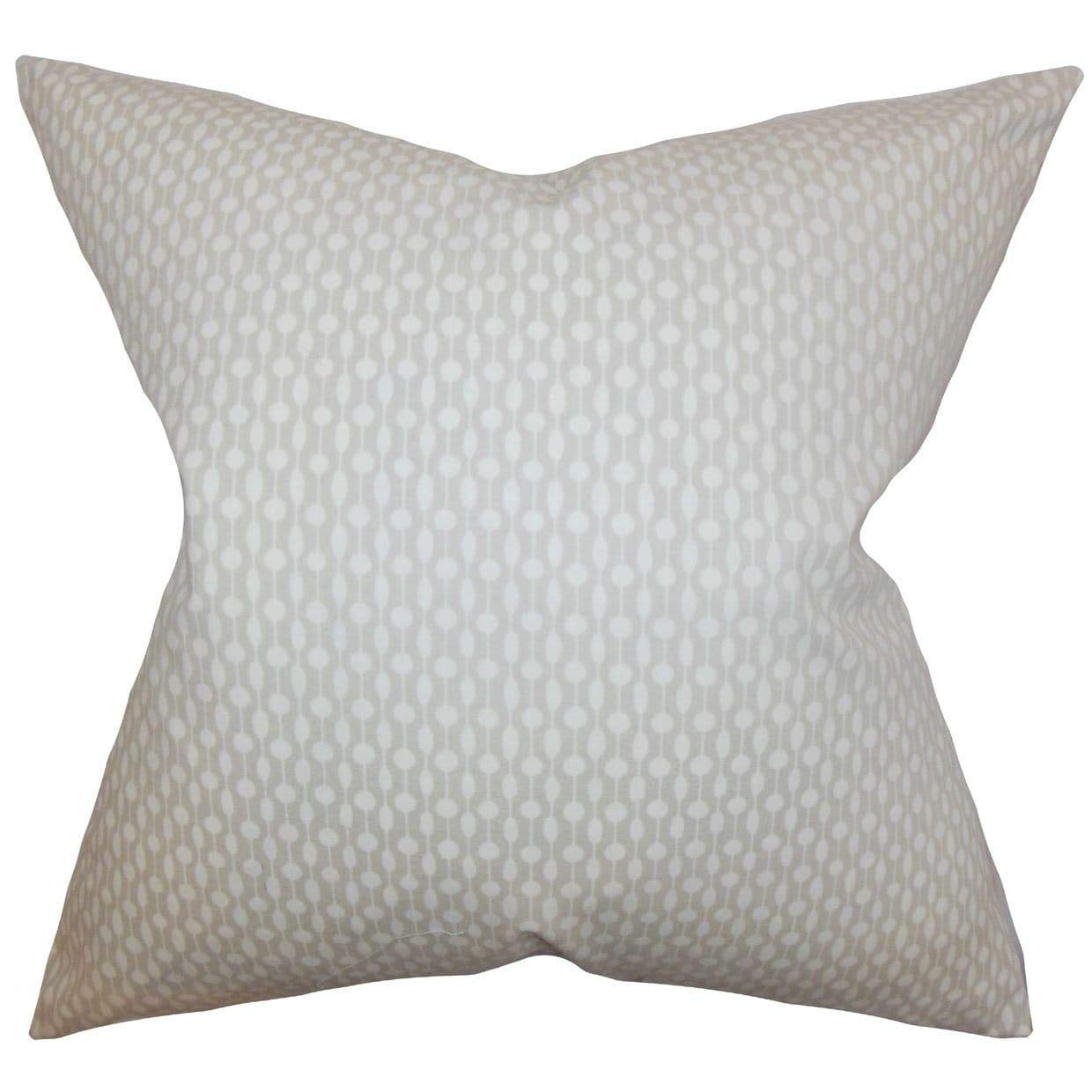 The Pillow Collection Orit Geometric Bedding Sham Oyster, King/20'' x 36''