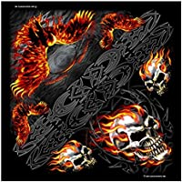 "Signature Bikers Bandanas Collection Original Design, 21"" x"