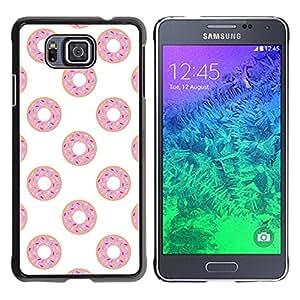 TopCaseStore / la caja del caucho duro de la cubierta de protección de la piel - Pink Sweet Pattern - Samsung GALAXY ALPHA G850