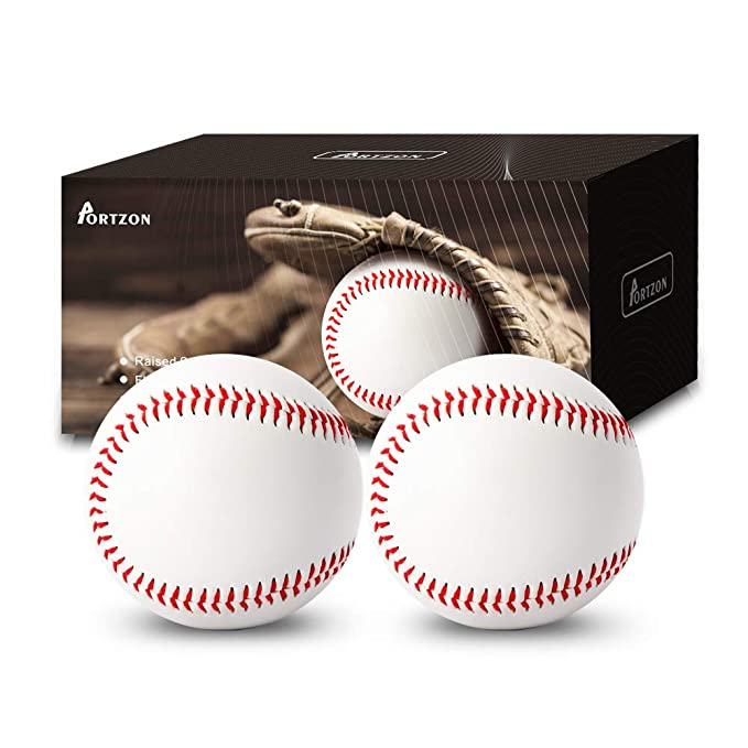 Portzon Baseball,Official Training Baseball Unmarked Baseball for League Play, Practice, Competitions, Gifts, Keepsakes, Arts and Crafts, Trophies, ...