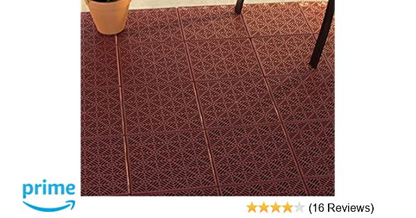 Amazon Pure Garden Interlocking Patio Deck Or Garage Floor