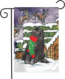 Bernese Mountain Dog Christmas Socks Garden Flags House Indoor & Outdoor Welcome Decorations,Waterproof Polyester Yard Decorative for Game Family Party Banner