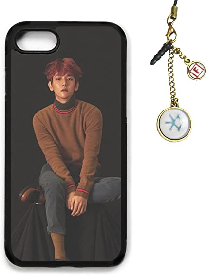 Amazon Com Fanstown Kpop Exo Iphone 7 8 Case For Life Dust Plug Charm E01