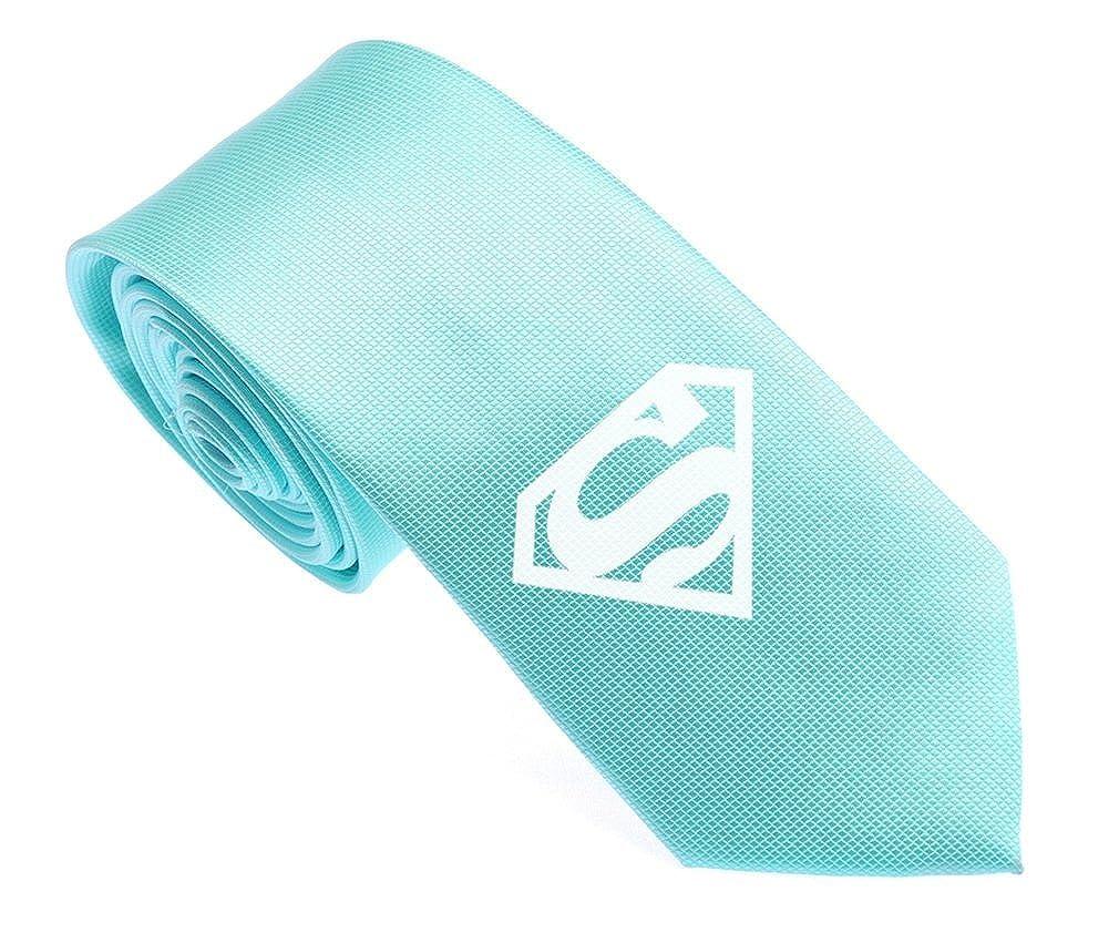 uyoung Superman Patrón multicolor corbata para hombre, tejido de ...