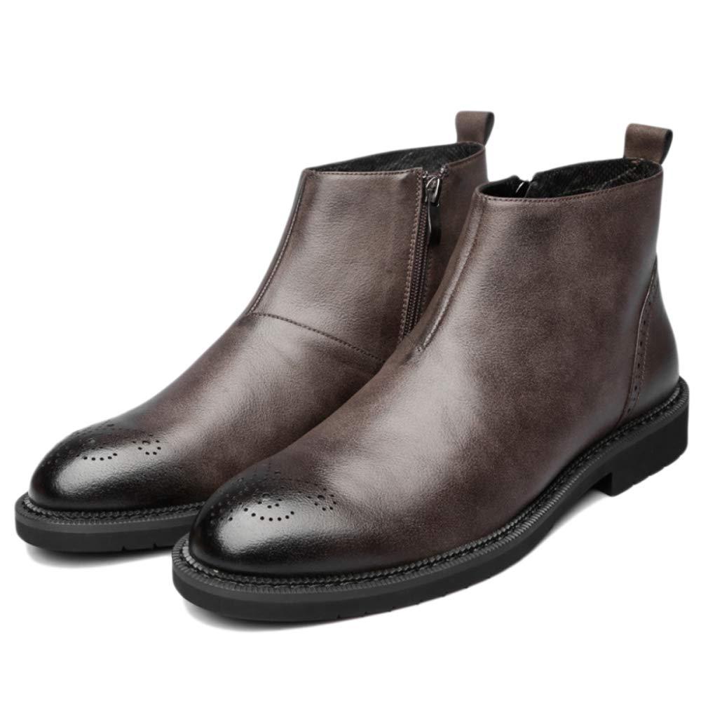 ALHM Herren Leder Martin Stiefel hoch zu helfen, retro England arbeiten praktische Schuhe Geburtstag Geschenke Wüste Schuhe