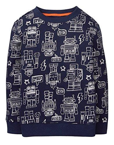 Gymboree Boys' Little Winter Pullover Sweatshirt, Dark Marine, M (Gymboree Boys Sweater)