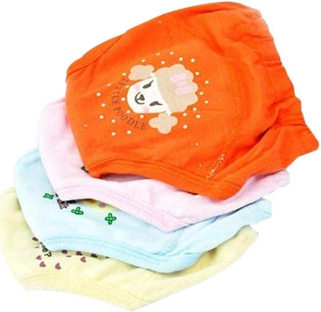 Newborns Assorted Color 4 Pcs Baby Training Pants Waterproof Potty Training Underwear Recyclable 4-Layer Cloth Diaper for 2-3 Years Toddler