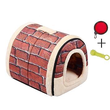 Enko 2 en 1 Cómodo Casa para Mascotas y Sofá, Interiores y Exteriores Portátil Plegable