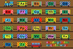 Kids Area Rug ABC Alphabet Learning Carpet Play Time Design#04 (4ft.X5ft9in)