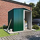 BillyOh 5x4 Partner Mini Apex Galvanised Steel Metal Shed with Steel Foundation Kit