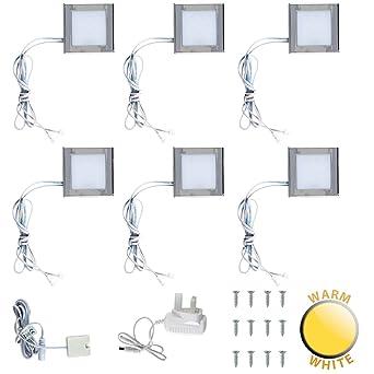 Set di 6 faretti LED sottopensili da collegare da cucina, con ...