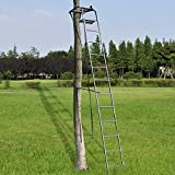 15' Deluxe Hunting Tree Stand Ladder Stand w/ Safety Harness