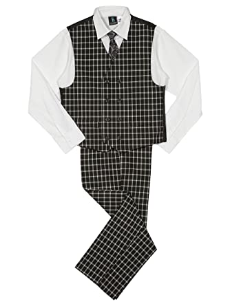75ccf52c09b8 Amazon.com  Steve Harvey Boys  Four Piece Vest Set  Clothing