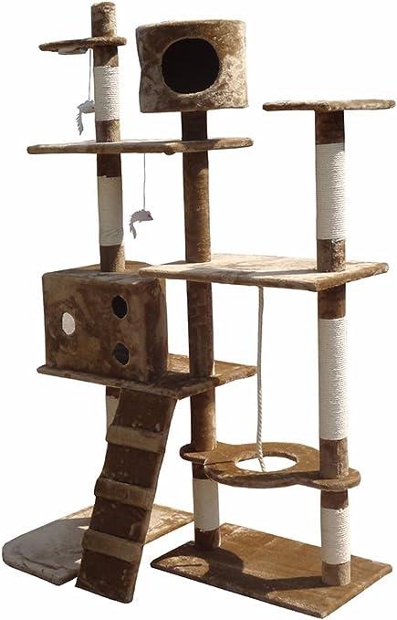 Rascador para centro de actividades de árbol de gatos, rascador de juguetes, cama con gato nip HOME HUT®: Amazon.es: Productos para mascotas