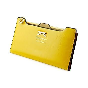 Amazon.com  Fashion Lady Women Leather Clutch Purse Long Zip Card Holder  Case Wallet Handbag (Yellow)  Arts, Crafts   Sewing 7d55427429