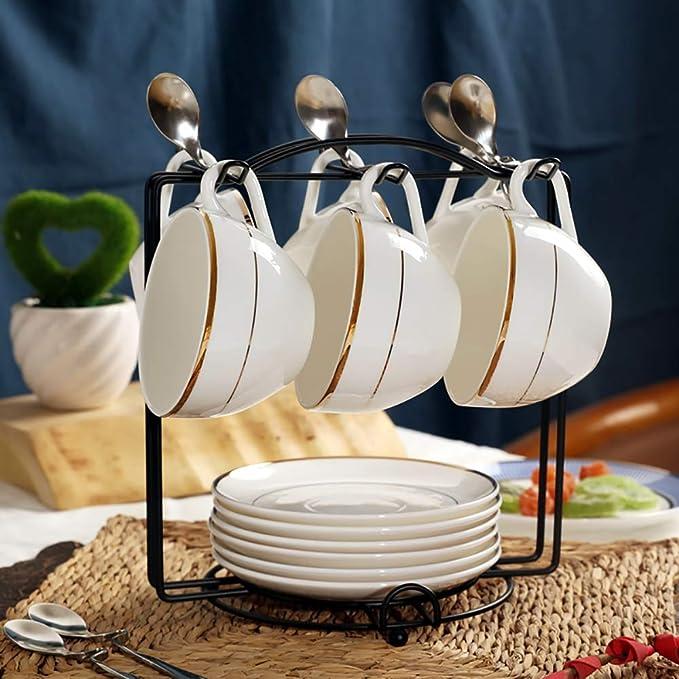 decoraci/ón del hogar Soporte para tazas de cristal con m/últiples ganchos t/é para cocina caf/é mesa con soporte de exhibici/ón anticorrosi/ón Tama/ño libre As Picture Show