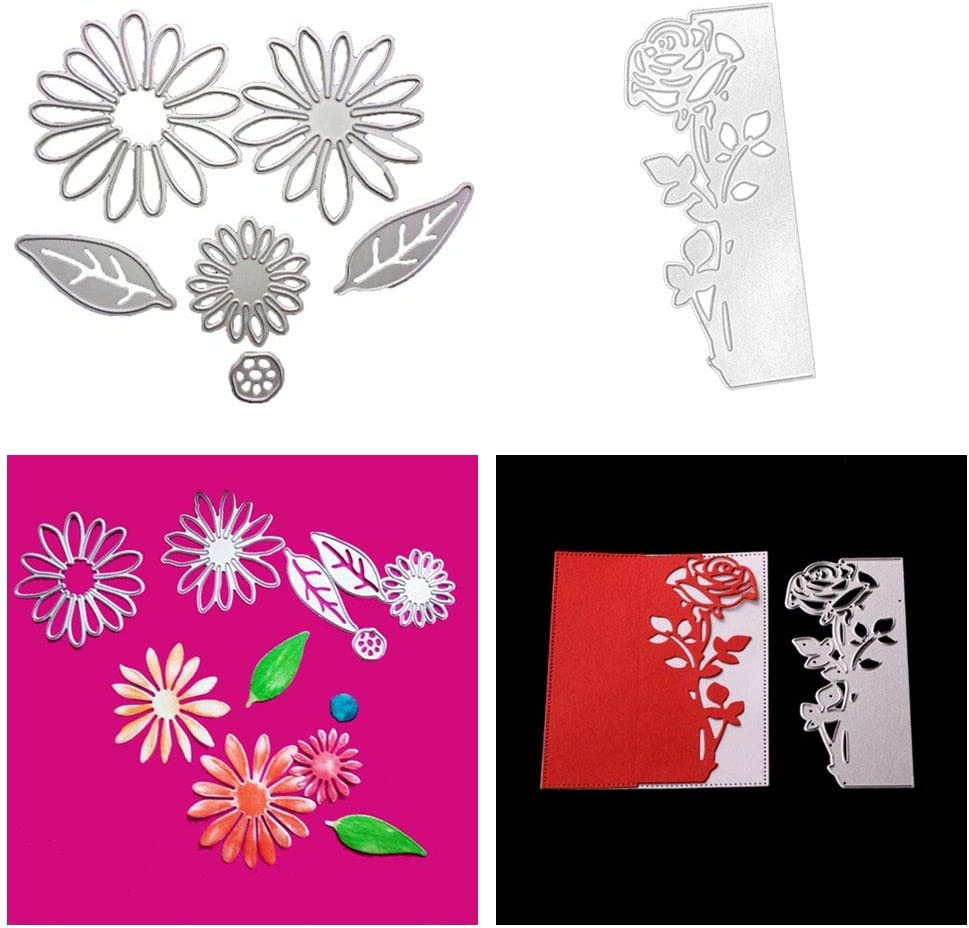 2 Pcs Metal Cutting Dies Stencil Template Moulds Embossing Tool for Card Making