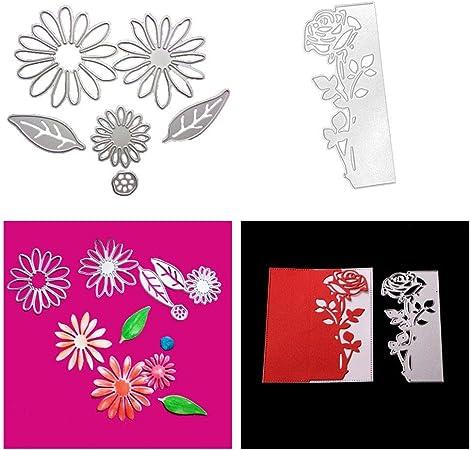 Scrapbooking Dies Die Cut,Metal Dies Stencil Book Album Card DIY Card Making Flowers Leaf  Metal Cutting Dies for DIY Scrapbooking
