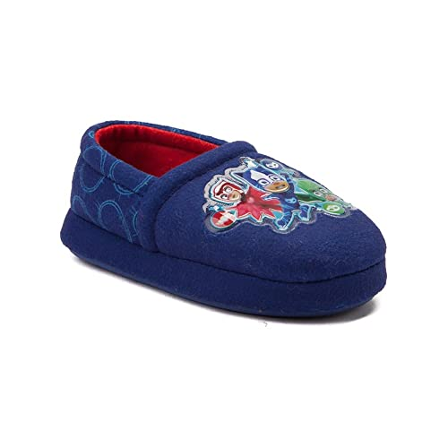 PJ Masks Little Boys Blue Character Print Slippers (7-8)