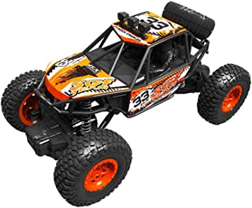 Remote Control Monster Truck for Kids Adults Truck Rock Crawler Toy, 1/14 2.4G 4WD Rc Car High Speed Rock Off-Road Vehicle Electric Fast Race Buggy Hobby Car for Age 4+ Children Birthday Gift (Orange)