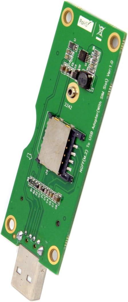USB to M.2 NGFF Wireless WWAN Adapter Card /& SIM Card Slot Module Testing Tools
