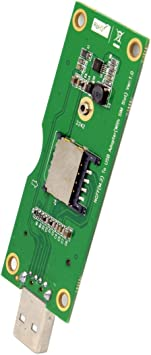 JSER M.2 NGFF WWAN inalámbrico a USB Tarjeta Adaptador con Ranura para Tarjeta SIM Herramientas de Prueba