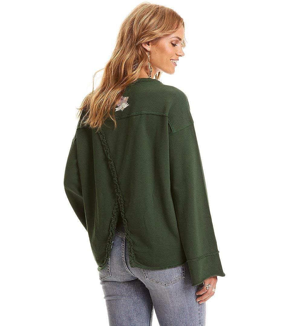 Odd Molly Back Swag Sweater Bottle Green