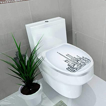 Wondrous Amazon Com Vanfan Toilet Seat Sticker Heavy Technical Caraccident5 Cool Chair Designs And Ideas Caraccident5Info