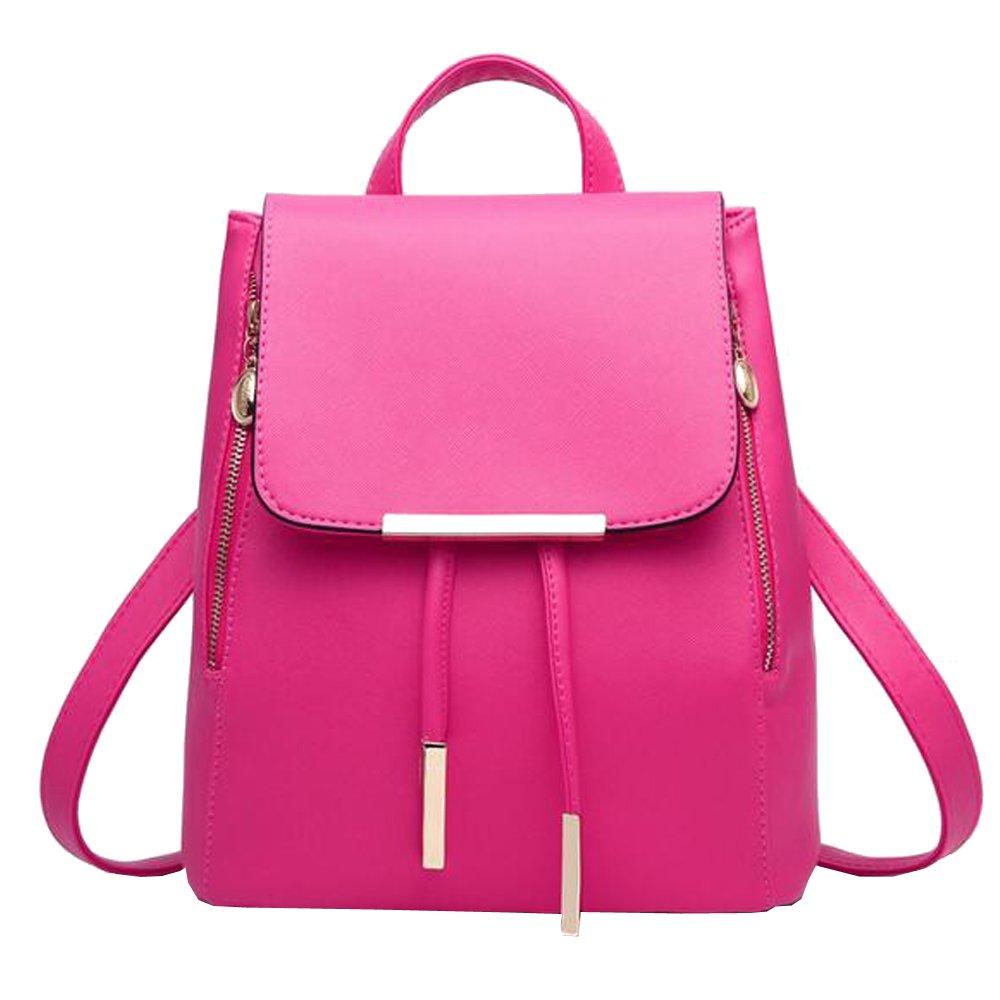 628eed6a1e4e Amazon.com: XFentech Backpack Girls Fashion Shoulder Bag Backpack PU ...
