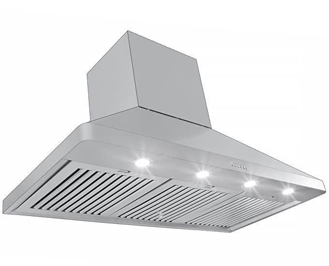 Proline Professional Ducted Wall Range Hood w/chimney - PLJW 129 48-1200  CFM - 48