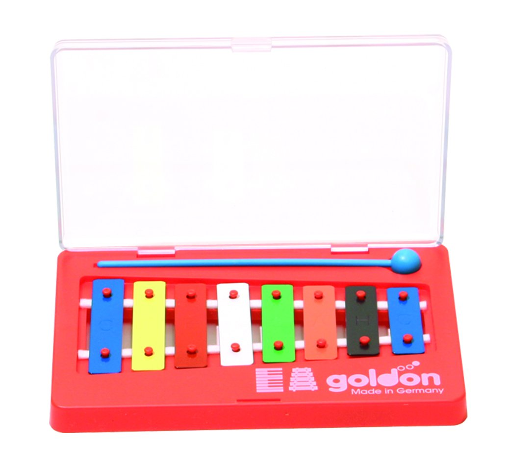 Goldon 8 Colored Sound Plates Metallophone Happy Cube 11000