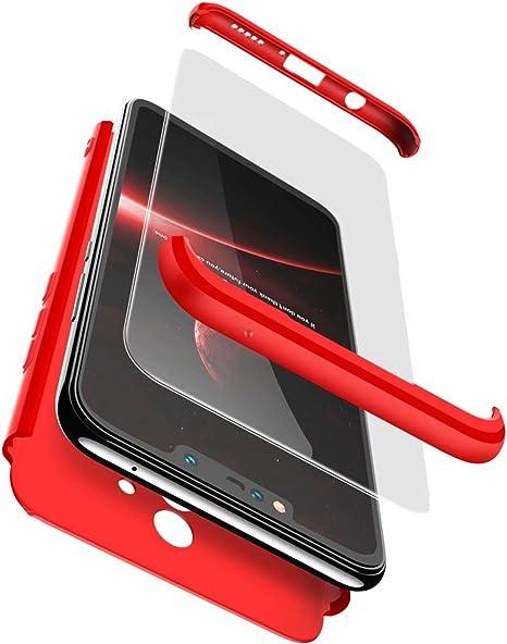 TXLING Funda Samsung Galaxy S9 Bumper 3 en 1 Estructura 360 Grados Case Ultra-Delgado Anti-rasgu/ños Carcasa para Samsung Galaxy S9 Rojo Ligera Cristal Templado