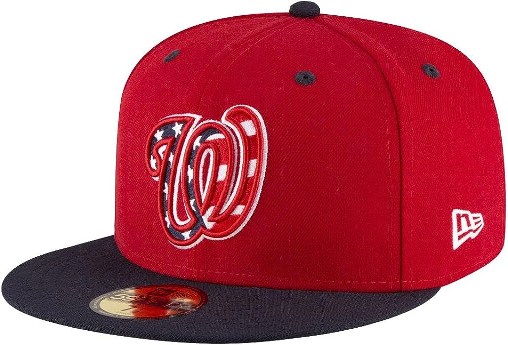 New Era 59Fifty Hat Washington Nationals MLB 2017 Alternate Red Blue Fitted  Cap (6 e5741b49da5