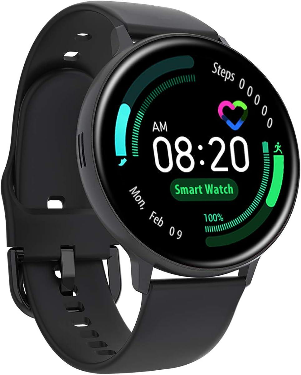 Full Round Screen Health Tracker Multi Dials Smart Watch Heart Rate Blood Pressure Monitor Wireless ChargingFitness Tracker