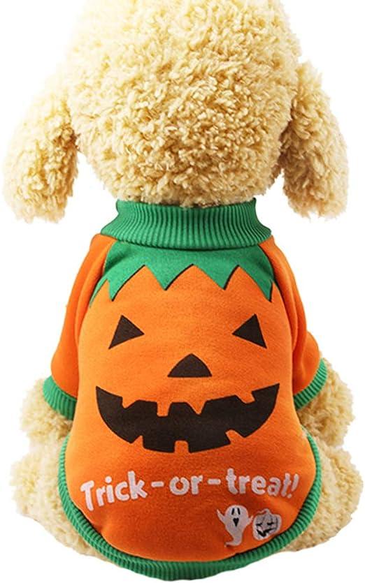 Enticerowts sudaderas de Halloween, ropa para mascotas, perro ...