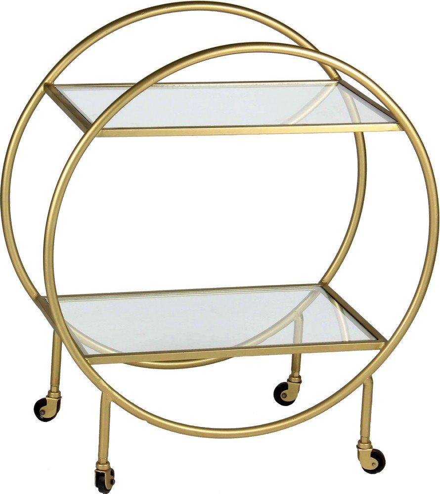 Renwil Bass Bar Cart in Antique Gold