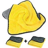 [2 Pack]Microfiber Car Wash Towel,Super Absorbent Car Wash Microfiber Towel,Coral Velvet Double Sided Microfiber Car…