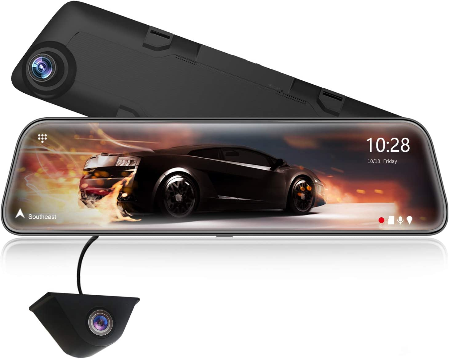 Wolfbox 2 5k Spiegel Dashcam 12 Full Hd Touchscreen Elektronik