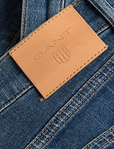 Slim Uomo Jeans Gant Blu Jean XwqExH7