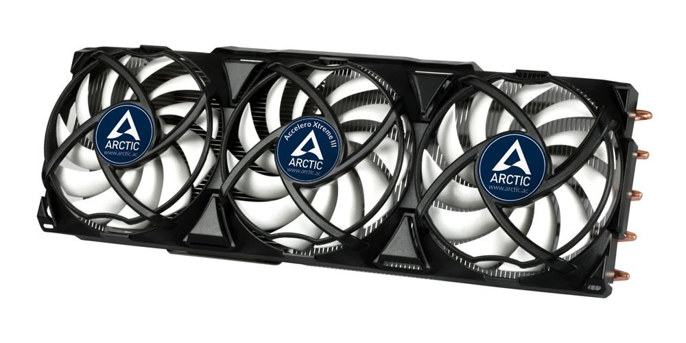 ARCTIC Accelero Xtreme III - High-End Graphics Card Cooler - nVidia & AMD, 3 Quiet 92mm PWM Fans, SLI/Crossfire. by ARCTIC