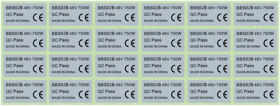 2Pcs BAFANG BBS02B BBSHD 48V 750W Mid Drive Motor Stickers Legal For eBike Label