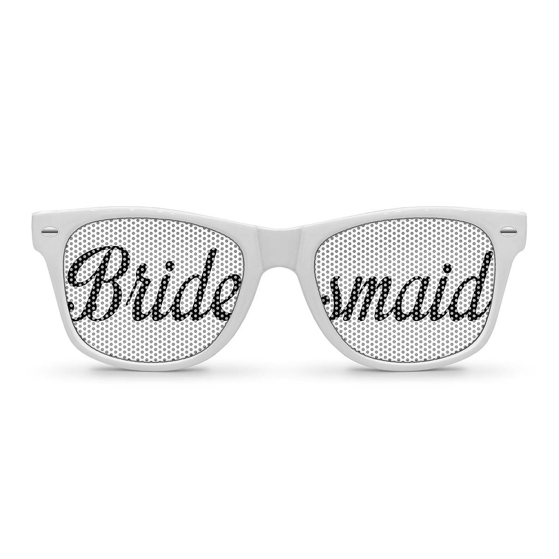 Amazon.com: BRIDESMAID White Retro Party Sunglasses: Clothing