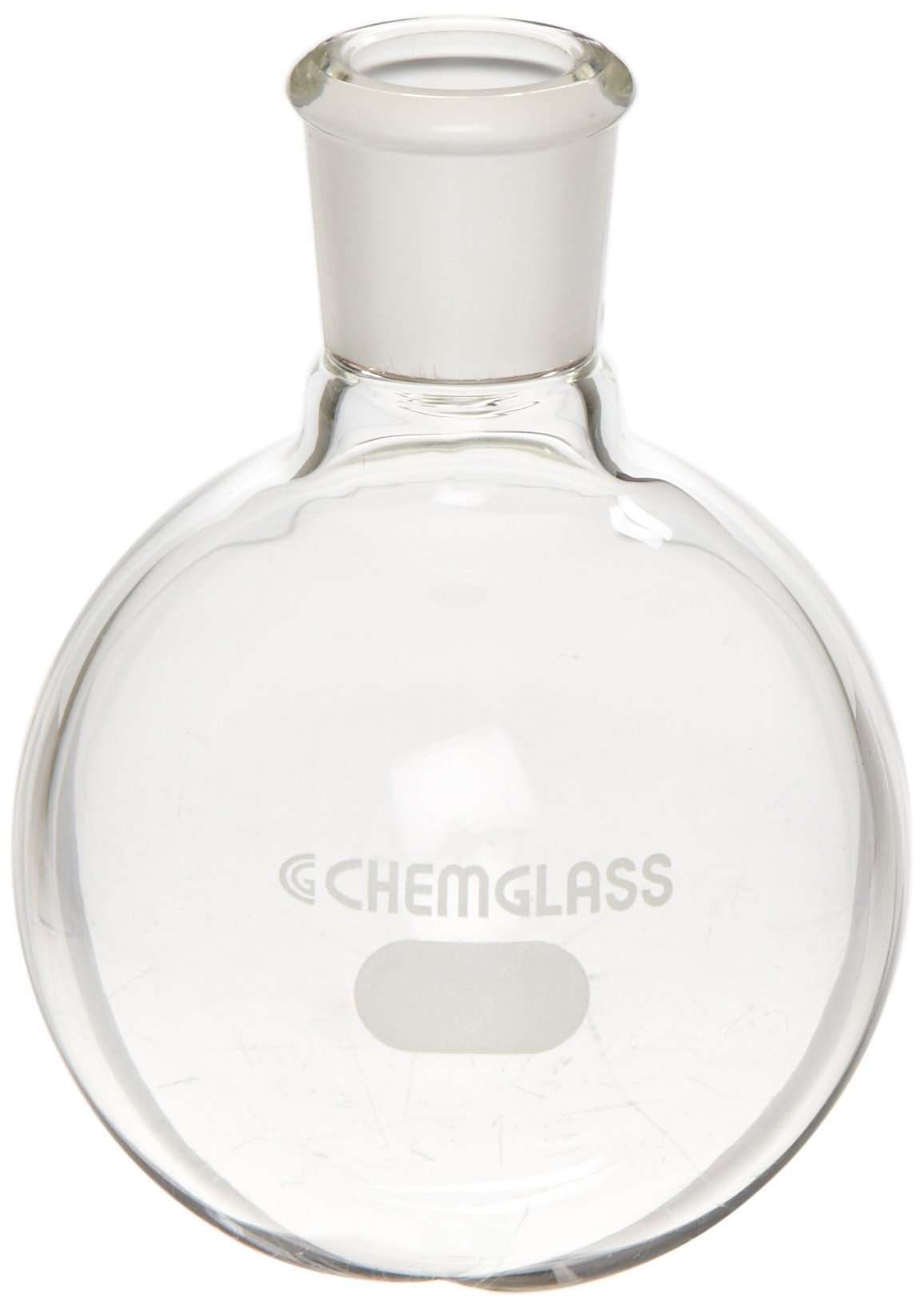 Chemglass CG-1506-90 Glass 100mL Heavy Wall Single Neck Round Bottom Flask, with 14/20 Standard Taper Outer Joint