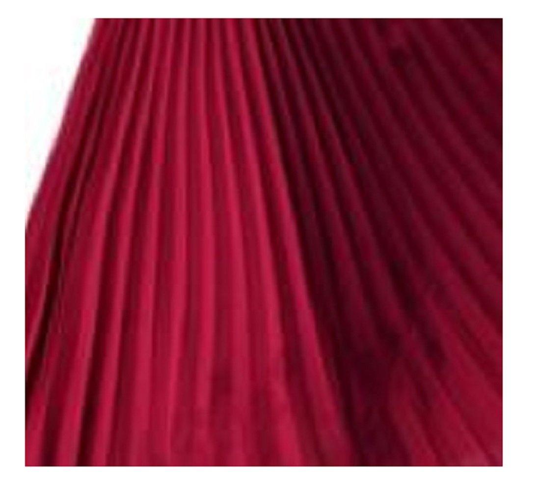 L& L® Ladies High Waist Elastic Waist Band Nieve Pleated Casual Midi Skirt